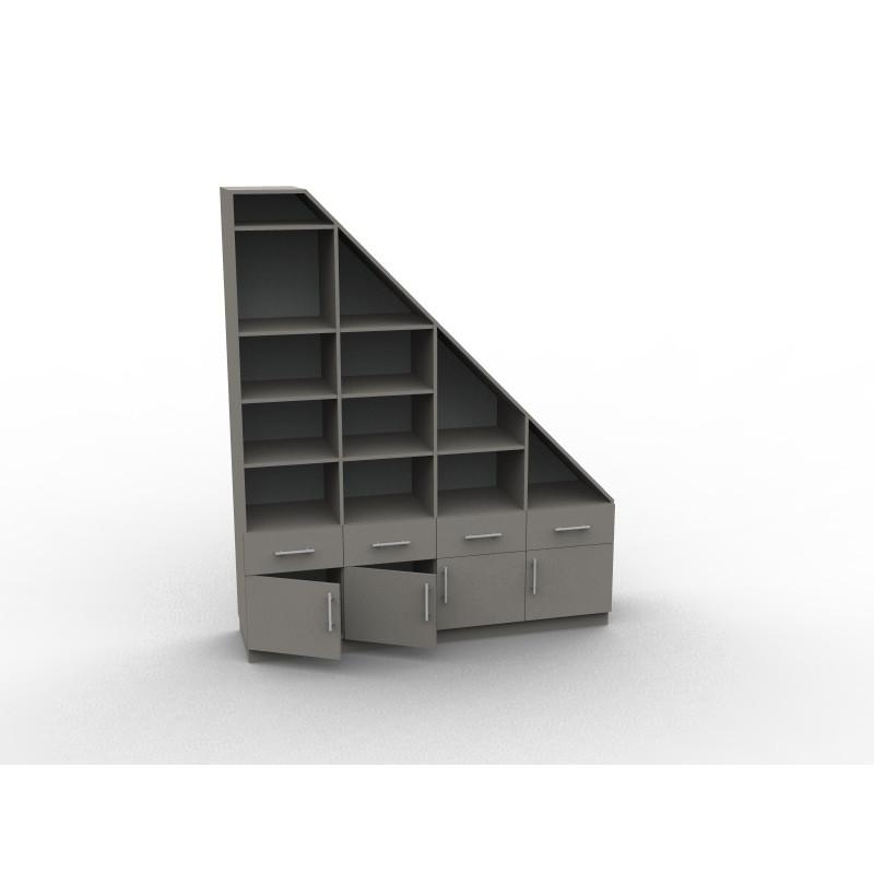 Meuble sous escalier de rangement - DessineTonMeuble