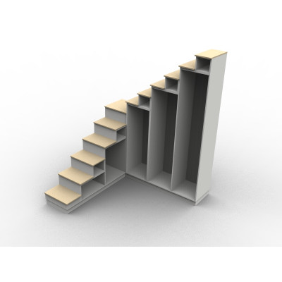 Meuble escalier quart tournant