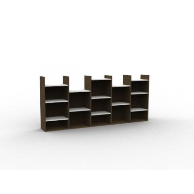 Bibliothèque basse destructurée