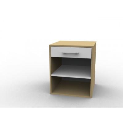 Table de nuit avec tiroir en bois