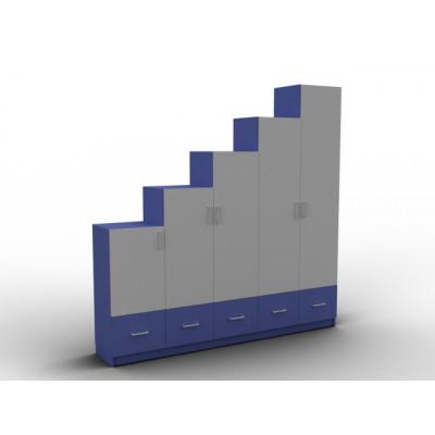 Placard à hauteur variable coloré