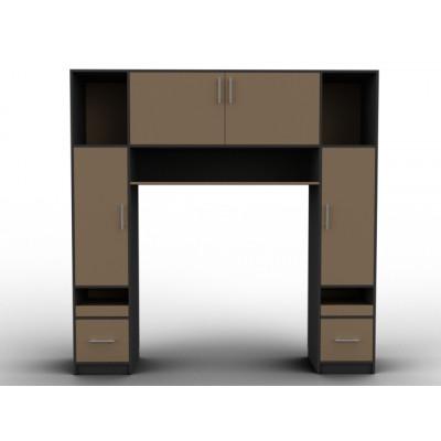 Tête de lit cadre bois et noir