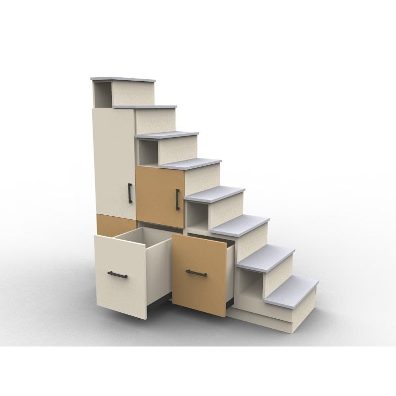 Meuble escalier sur mesure et personnalisable - Fabriquer un escalier en bois ...