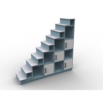 Meuble escalier mezzanine, modèle Lagon sens gauche