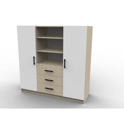 Penderie sur mesure avec tiroirs, modèle Laq