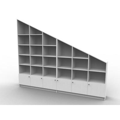Meuble sous pente ou sous escalier sur mesure Bibliotheque sous comble