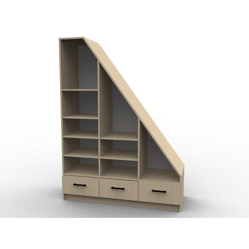 etag res sous pente dessinetonmeuble. Black Bedroom Furniture Sets. Home Design Ideas