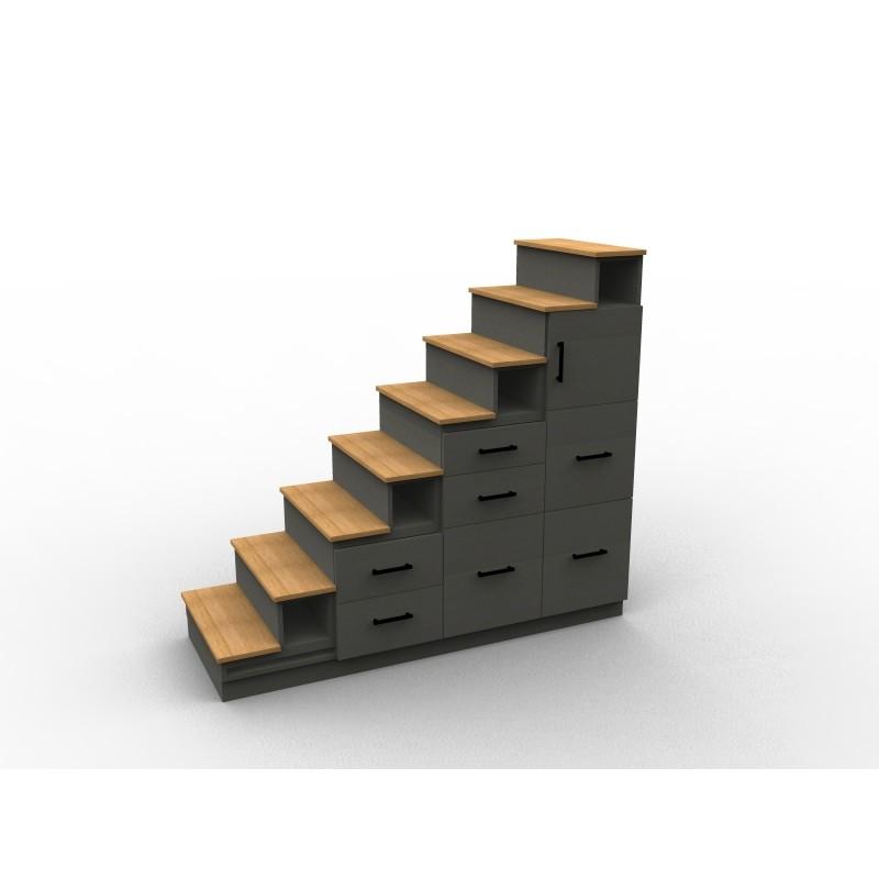 Meuble escalier avec tiroirs sur mesure