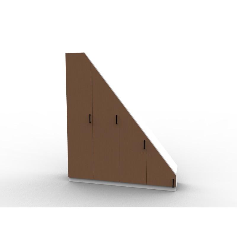 Meuble sous pente avec portes de placard dessinetonmeuble - Meuble pour sous pente ...