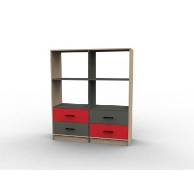 Meuble tiroirs étagère