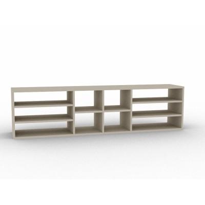 meuble tv finition bois noir sur mesure. Black Bedroom Furniture Sets. Home Design Ideas