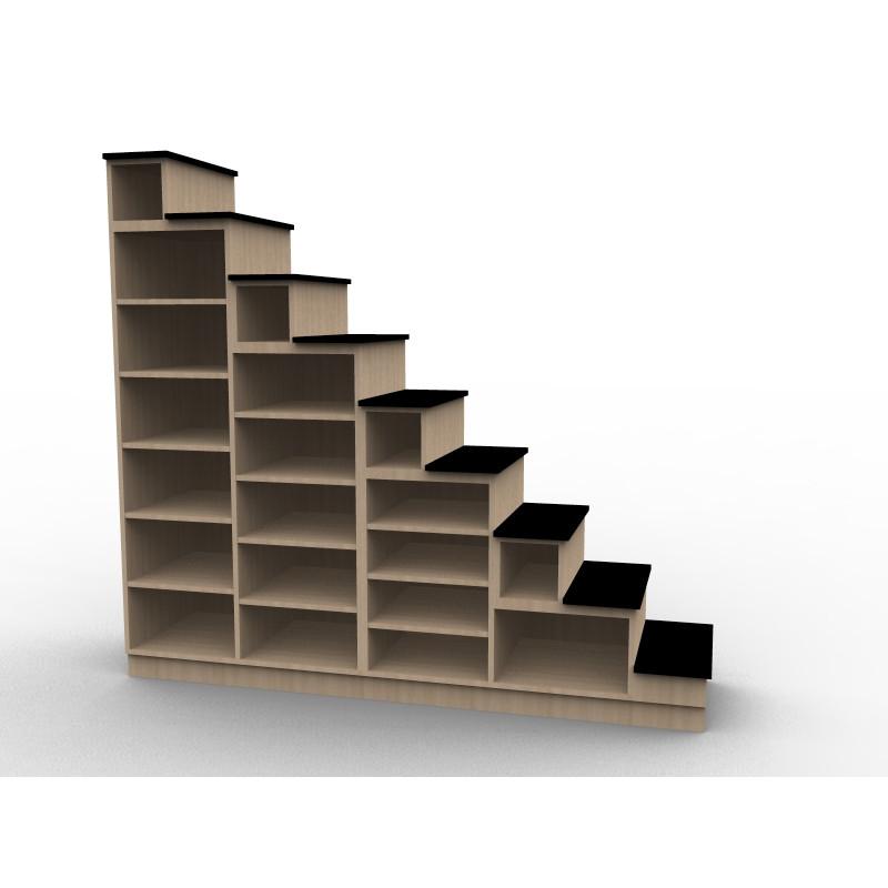 Rangement sur mesure meuble escalier