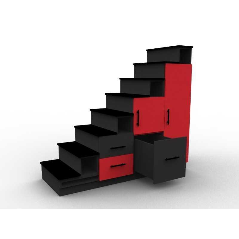 meuble escalier couleurs mezzanine