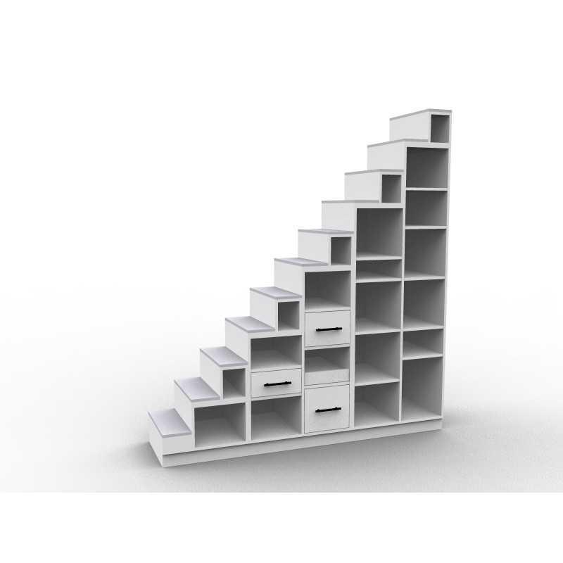 meuble escalier biblioth que mezzanine mod le longo. Black Bedroom Furniture Sets. Home Design Ideas