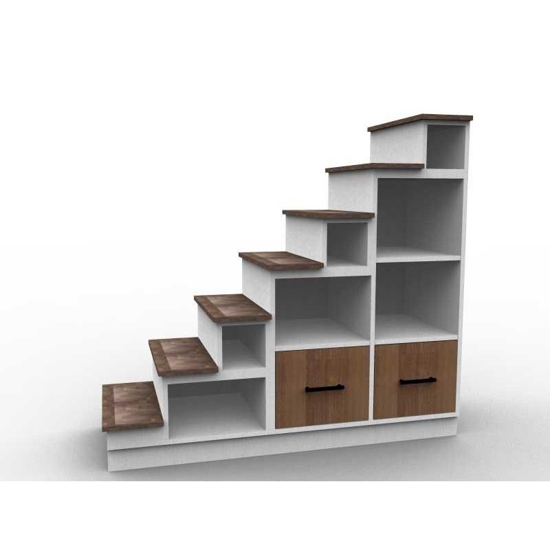 Petit meuble escalier sens gauche avec tiroirs - Petit meuble escalier ...