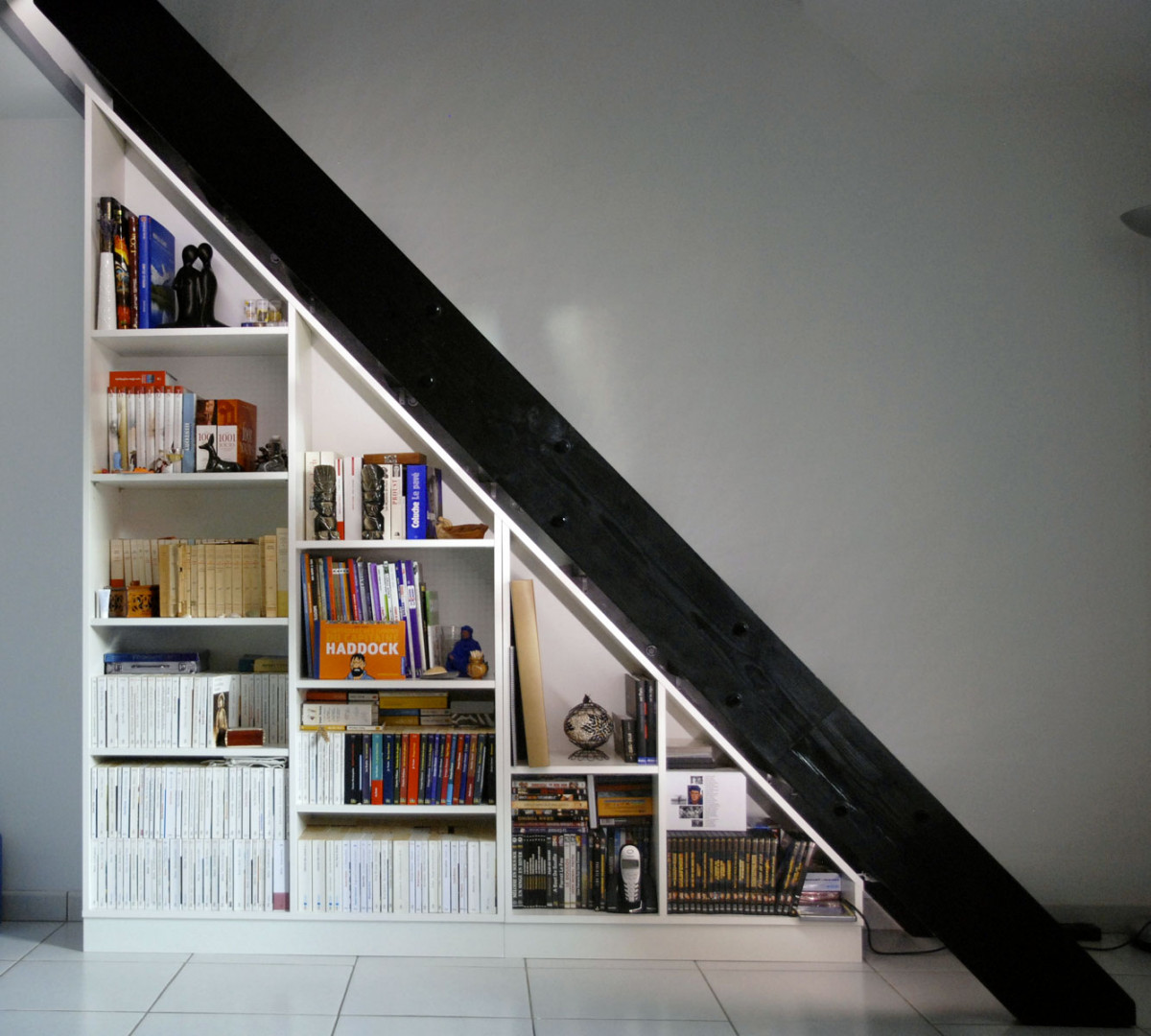 Photos clients dessinetonmeuble - Bibliotheque sous escalier ikea ...