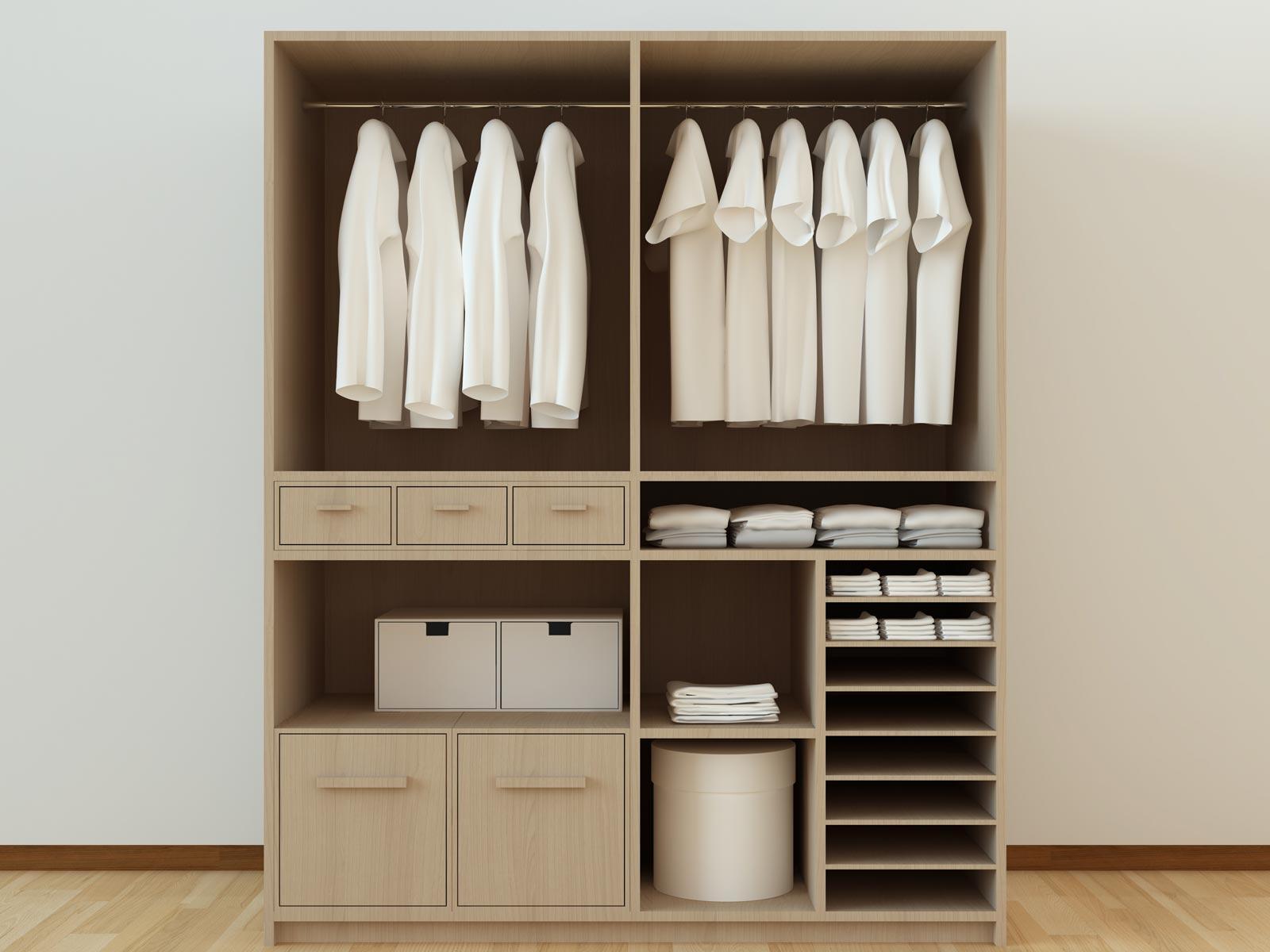 Meuble sur mesure pour la chambre dressing sur mesure for Closet en madera para habitaciones