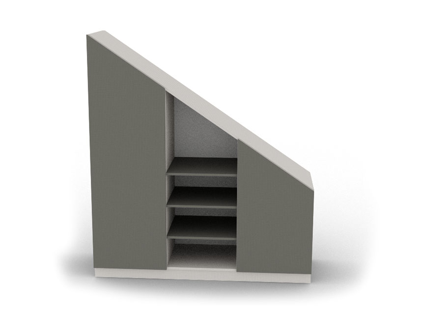 Meuble sous escalier sur mesure dessinetonmeuble - Meuble chaussure sous escalier ...